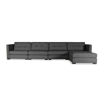 Timpson Buttoned Modular Sectional Upholstery: Charcoal, Orientation: Right Hand Facing