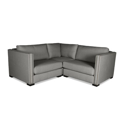 Timpson Right and Left Arms L-Shape Mini Modular Sectional Upholstery: Gray