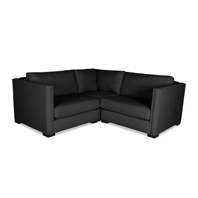Timpson Right and Left Arms L-Shape Mini Modular Sectional Upholstery: Charcoal