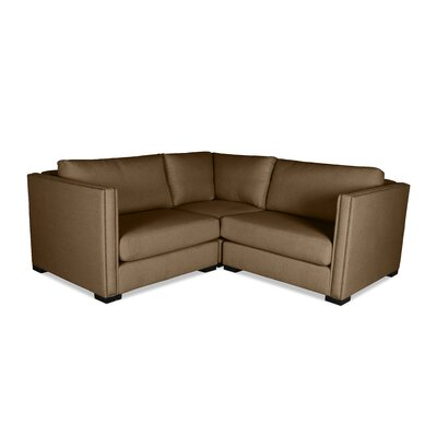 Timpson Right and Left Arms L-Shape Mini Modular Sectional Upholstery: Brown