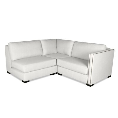Timpson L-Shape Mini Modular Sectional Upholstery: White, Orientation: Right Hand Facing