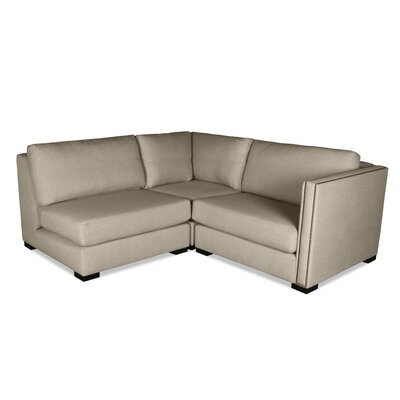 Timpson L-Shape Mini Modular Sectional Upholstery: Sand, Orientation: Right Hand Facing