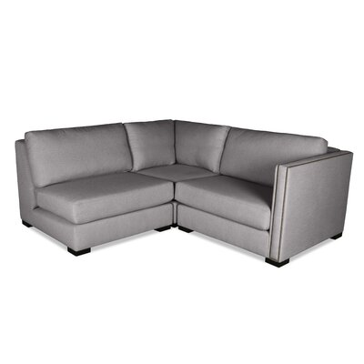 Timpson L-Shape Mini Modular Sectional Upholstery: Gray, Orientation: Right Hand Facing