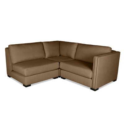 Timpson L-Shape Mini Modular Sectional Upholstery: Brown, Orientation: Right Hand Facing