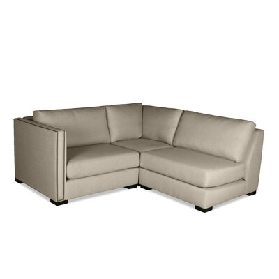 Timpson L-Shape Mini Modular Sectional Upholstery: Sand, Orientation: Left Hand Facing