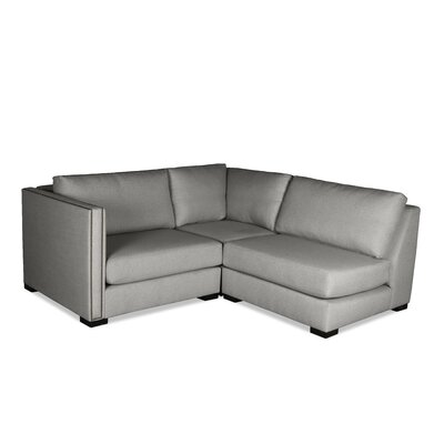 Timpson L-Shape Mini Modular Sectional Upholstery: Gray, Orientation: Left Hand Facing