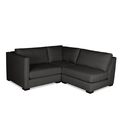 Timpson L-Shape Mini Modular Sectional Upholstery: Charcoal, Orientation: Left Hand Facing