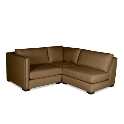 Timpson L-Shape Mini Modular Sectional Upholstery: Brown, Orientation: Left Hand Facing