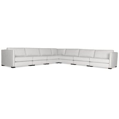 Timpson Right and Left Arms L-Shape Modular Sectional Upholstery: White