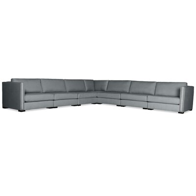 Timpson Right and Left Arms L-Shape Modular Sectional Upholstery: Gray