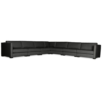 Timpson Right and Left Arms L-Shape Modular Sectional Upholstery: Charcoal