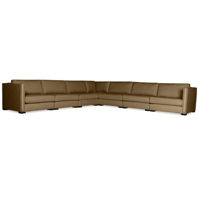 Timpson Right and Left Arms L-Shape Modular Sectional Upholstery: Brown