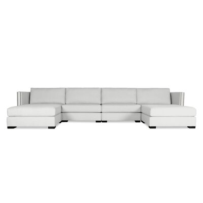 Timpson U-Shape Modular Sectional Upholstery: White
