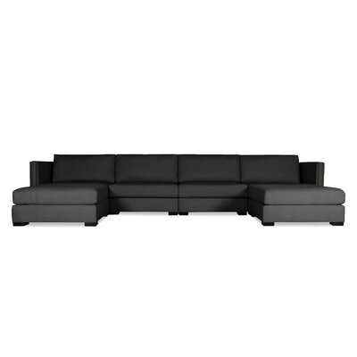 Timpson U-Shape Modular Sectional Upholstery: Charcoal