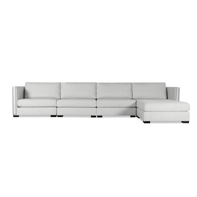 Timpson Chaise Modular Sectional Upholstery: White, Orientation: Right Hand Facing