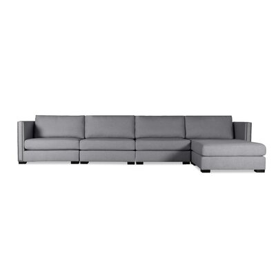 Timpson Chaise Modular Sectional Upholstery: Gray, Orientation: Right Hand Facing