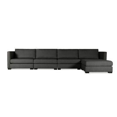Timpson Chaise Modular Sectional Upholstery: Charcoal, Orientation: Right Hand Facing