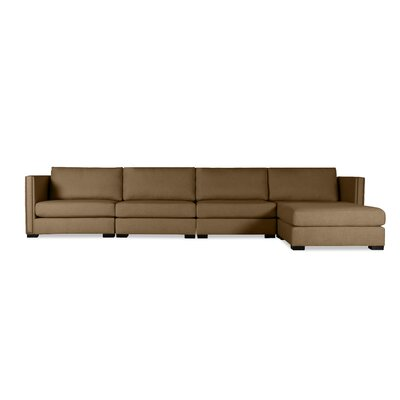Timpson Chaise Modular Sectional Upholstery: Brown, Orientation: Right Hand Facing