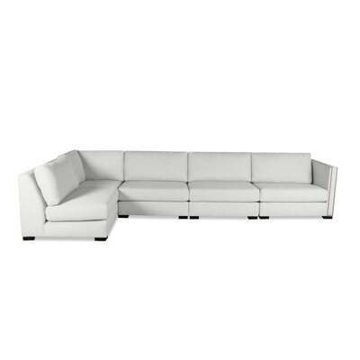 Timpson Left L-Shape Modular Sectional Upholstery: White