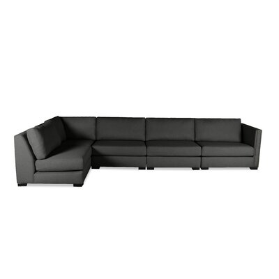 Timpson Left L-Shape Modular Sectional Upholstery: Charcoal