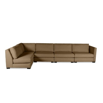 Timpson Left L-Shape Modular Sectional Upholstery: Brown
