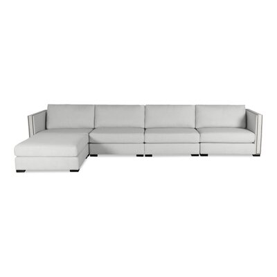 Timpson Chaise Modular Sectional Upholstery: White, Orientation: Left Hand Facing