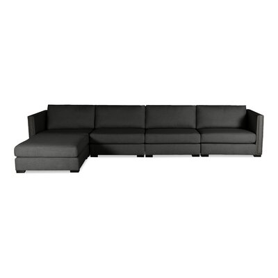 Timpson Chaise Modular Sectional Upholstery: Charcoal, Orientation: Left Hand Facing