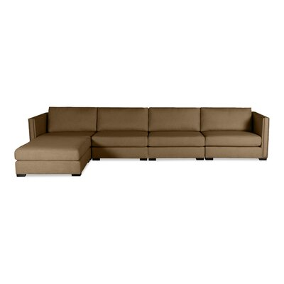 Timpson Chaise Modular Sectional Upholstery: Brown, Orientation: Left Hand Facing