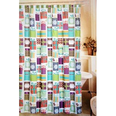 Jolly Holidays 13 Piece Under The Tree Fabric Shower Curtain Set
