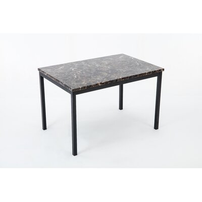 Andreana Counter Height Dining Table Top Color: Black