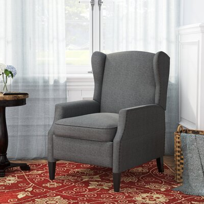 Lamontagne Wingback Recliner Upholstery: Charcoal