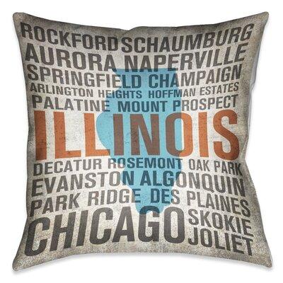 Pricilla Illinois State Throw Pillow