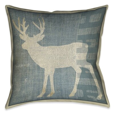 Hajda Deer Patch Throw Pillow