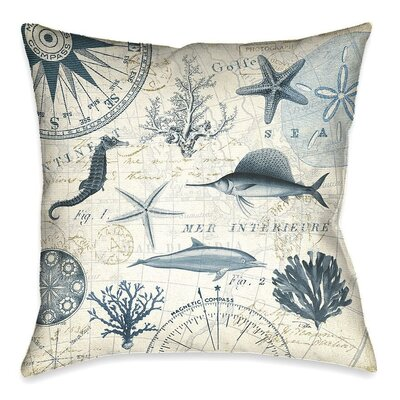 Eastfield Ocean Life Throw Pillow