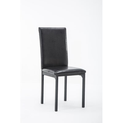 Andreana Upholstered Dining Chair Upholstery Color: Black