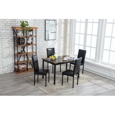 Andreana Dining Set Color: Black