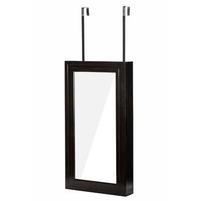 Denaux Over the Door Jewelry Armoire with Mirrror Color: Esspresso