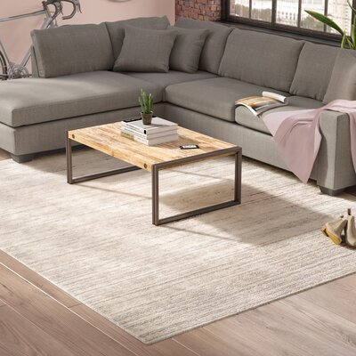 Brooks Distressed Modern Sleek Gray/Cream Area Rug Rug Size: Rectangle 710 x 103