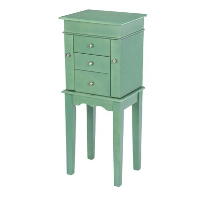 Hummer Free Standing Jewelry Armoire Color: Green