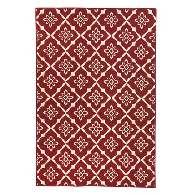 Lexington Trellis Red Indoor/Outdoor Area Rug