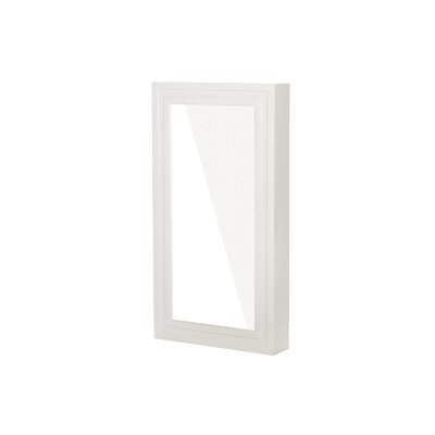 Garwood Over The Door Jewelry Armoire with Mirror Color: White