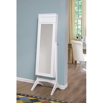 Mansfield Free Standing Jewelry Armoire with Mirror