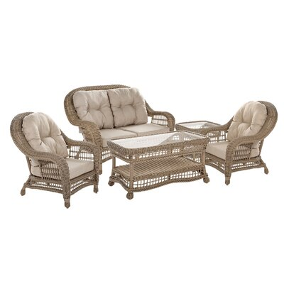 Oph lie Rattan Sofa Set Cushions 7023 Product Pic