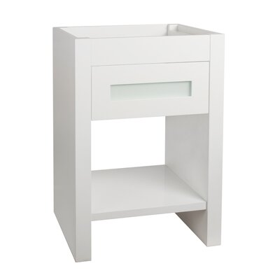 Kendra 23 Single Bathroom Vanity Base Finish: White