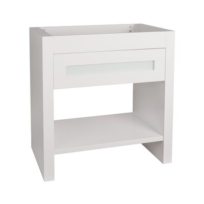 Kendra 31 Single Bathroom Vanity Base Finish: White