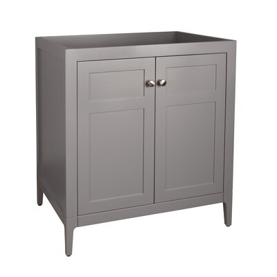 Briella 30 Single Bathroom Vanity Base Base Finish: Empire Gray