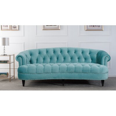 Boston Chesterfield Sofa Upholstery: Arctic Blue