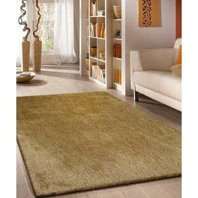 Vinci Hand-Tufted Gold Area Rug Rug Size: Rectangle 76 x 103
