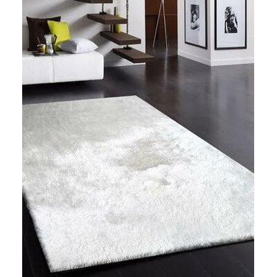 Vinci Hand-Tufted White Area Rug Rug Size: Rectangle 76 x 103