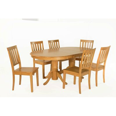 Inwood 7 Piece Extendable Dining Set Color: Oak